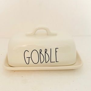 Rae Dunn by Magenta Gobble Butter Dish NWOT